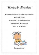 Wriggly Readers at Burbage Library