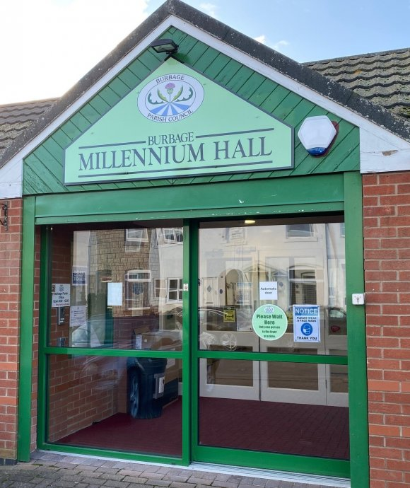 A picture of the millennium hall entrance