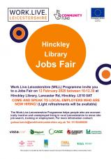 Jobs Fair to be held in Hinckley Library