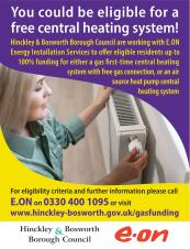 FREE central heating system for eligible residents